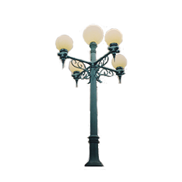 5 Lamp Unit Lamp Post with Globe Luminaires
