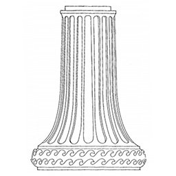 Heritage Style Lamp Post Pedestal Drawing