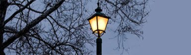Lantern Style Lamp Post Illuminated