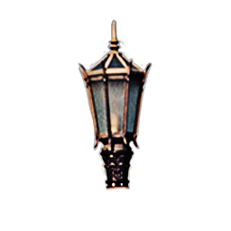 Pillar Mounted Steepled Lantern Lamp Luminaire
