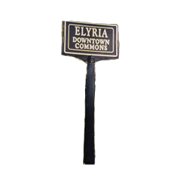 Elyria Downtown Commons Sign Pole