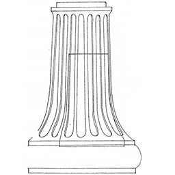 Medina Style Lamp Post Pedestal Drawing