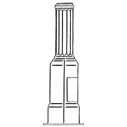 Sandusky Style Lamp Post Pedestal