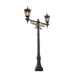 Double Lamp Unit Lamp Post with Steepled Lantern Luminaire