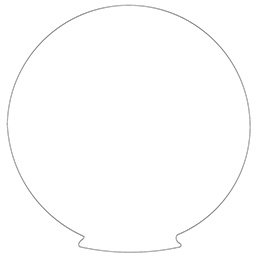 round style lamp luminaire drawing