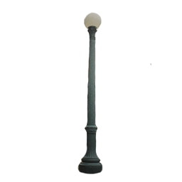 Single Lamp Unit Lamp Post with Globe Luminaire